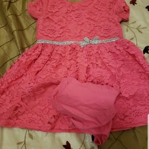 Special occasion carters pink  lace dress 18m